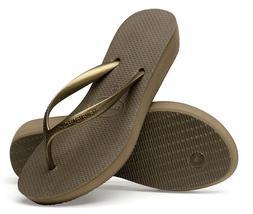 Havaianas Women`s Flip Flops High Light Dark Khaki Sandals 1