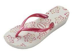 Havaianas Women`s Flip Flops High Light II White/Pink Wedge