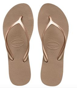 Havaianas Women`s Flip Flops High Light Rose Gold Sandals 1