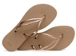 Havaianas Women`s Flip Flops Slim New Tria Sandals Rose Gold