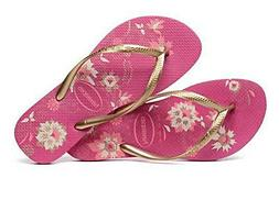 Havaianas Women`s Flip Flops Slim Organic Sandal Rasberry Ro