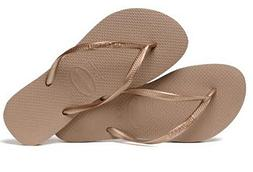 Havaianas Women`s Flip Flops Slim Style Sandals Rose Gold Se