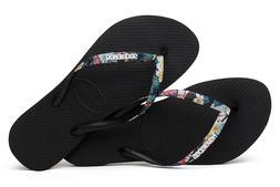 women s flip flops slim tropical straps
