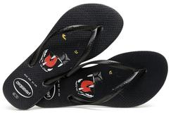 Havaianas Women`s Flip Flops Slim Wild Animals Sandals Black