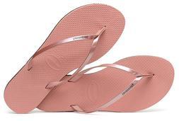 Havaianas Women`s Flip Flops You Metallic Sandal Rose Nude S
