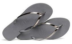 Havaianas Women`s Flip Flops You Metallic Sandals Steel Grey