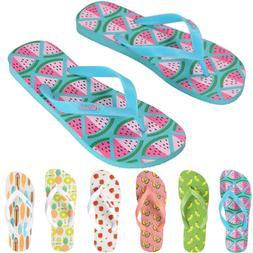 Women's Fruit Flip Flops Slippers Summer Slim Thong Sandal B