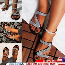 Women's Glitter Rhinestone Sandals Slipper Flip Flops Summer