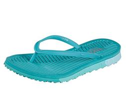 Skechers Women's GO Flex Refreshing Flip-Flop,Turquoise,US 1
