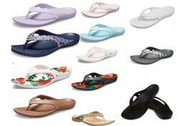 Women's CROCS Kadee ll Flip Flops Sandals Black, Navy, Pink,