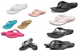 Women's CROCS Kadee ll Flip Sandals Black, Navy, Pink, Leopa