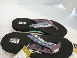 Women's Teva Mush II Thong Sandals Flip Flops Shutters Plum