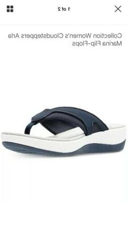 CLARKS Women's  Navy Blue Flip Flops Sandals Size 8
