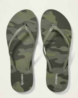 Women's NWT OLD NAVY Size 10 Camo Camouflage Pattern Flip Fl