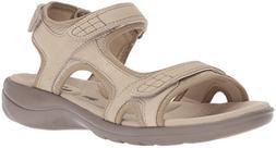CLARKS Women's Saylie Jade Sandal, Sand, 9.5 Medium US