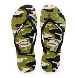 Havaianas Women's Slim Camo Flip Flops Beige/Black #4141505