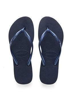 Havaianas Women's Slim Flip Flop Sandal, Navy Blue