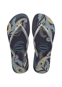Havaianas Women's Slim Organic Flip Flop Sandals, Floral Des