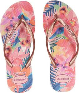 Havaianas Women's Slim Tropical Flip Flops Ballet Rose 39-40