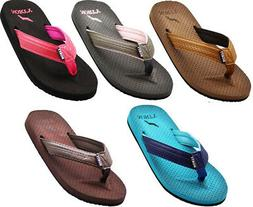 Norty Women's Soft Cushioned Footbed Flip Flop Thong Sandal
