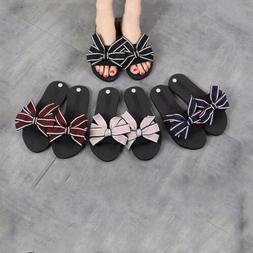 Women's Summer Cute Bouquet Flip Flops Silk Fabric Slipper B
