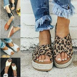 Women's Summer Flatforms Espadrille Sandals Casual Flip Flop