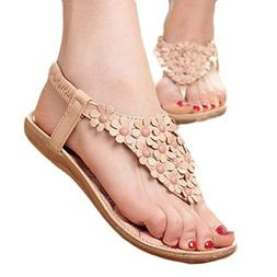Women's Sweet Summer Sandals Beaded Bohemian Dress Flip-Flop