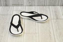 + Crocs Women's Swiftwater Flip Flops - Black/White - Choose