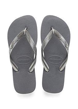 Havaianas Women's Top Tiras Sandals, Steel Grey, 37/38 BR