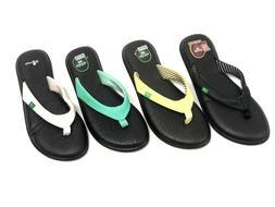 Sanuk Women's Yoga Chakra Flip Flops Sandals SWS10577 Multip