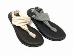 Sanuk Women's Yoga Sling 2 Metallic SWS10951 Flip Flops Sand