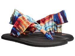 Sanuk Women's Yoga Sling 2 Prints Sandal Flip Flop, Coral/Mu