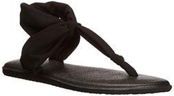 Sanuk Women's Yoga Sling Ella Sandal, Black, 10 M US