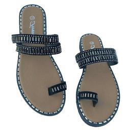 Women Slip On Flat Sandals Toe Ring Ladies SummerFlip Flop