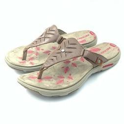 Merrell Womens Adhera Thong Sandals Brown Cutout Shoes EU 39