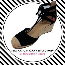 Womens Vionic Aruba Calypso Wedge Sandals Flip Flops Size 7