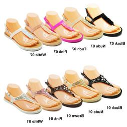 womens bling rhinestone thong sandals flip flops