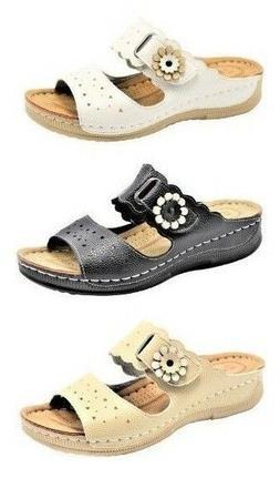 Women's comfort casual Shoes flip flops Open sandals flat