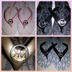 MICHAEL KORS womens flip flops 1 pair MK Logo