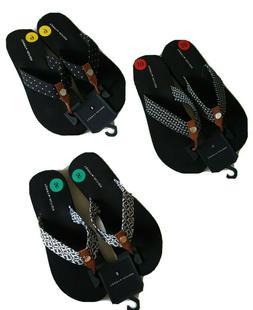 TOMMY HILFIGER womens flip flops 1 pair TH Logo