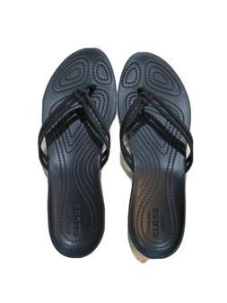 Womens Crocs Flip Flops Size 8 Black