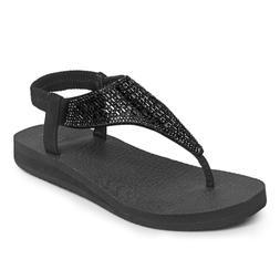 FITORY Womens Flip Flops Yoga Sling Rhinestones Flat Sandals