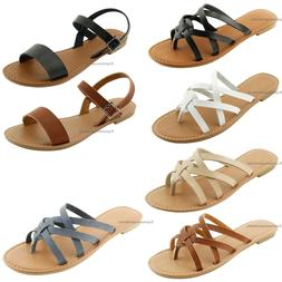 Women's New Sandals Fashion Thong Shoes Flops Flip Flat Si