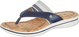 Easy Spirit Womens Nice Day Open Toe Beach, Blue, Size 8.0