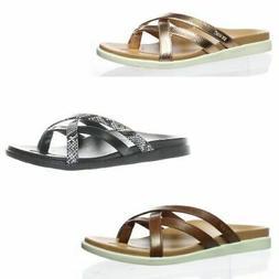 Vionic Womens Palm Daisy Strappy Flip Flops