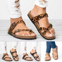 Womens Flip Flops Cork Footbed Sandals Summer Casual Slipper
