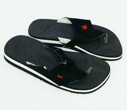 Converse Womens Red Star Black Sandals Size 8 Slip On