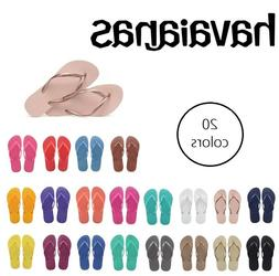 Havaianas Womens Slim Flip Flops Sandals - 20 NEW Colors