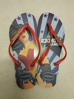 Havaianas Womens Slim Wonder Woman Flip Flops Limited Editio