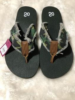 Womens's Flip Flops By SO Camo Camoflauge Size M 7/8